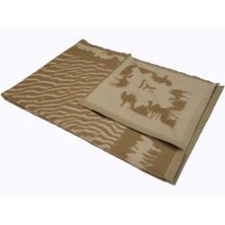 Одеяло из верблюжьей шерсти жаккардовое арт. 1-03cl02-4 (Монголия)
