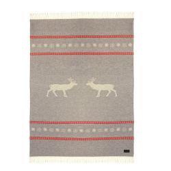 Плед из овечьей шерсти BORMIO серый 260 1000 (Италия)