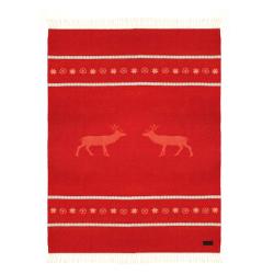 Плед из овечьей шерсти BORMIO красный 260 2000 (Италия)